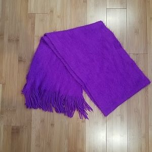 Fuzzy purple scarf